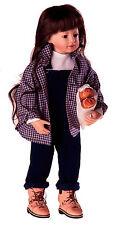 """Boneka Hemd blau-kariert 40 cm Puppen / Blue tartan shirt 40 cm/ 16"""" dolls"""