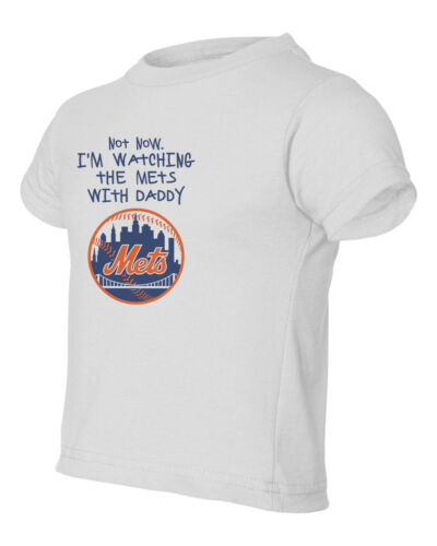 New York Mets Watching With Daddy Kids Toddler T-Shirt