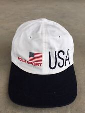 3e9039efb0a item 4 Vintage Polo Sport Ralph Lauren USA Flag Cap Hat Bear RARE P Wing  Two Tone RRL -Vintage Polo Sport Ralph Lauren USA Flag Cap Hat Bear RARE P  Wing Two ...