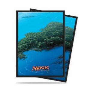 Ultra-PRO-80-Magic-the-Gathering-Deck-Protector-Sleeves-Mana-5-Island-86455-MTG