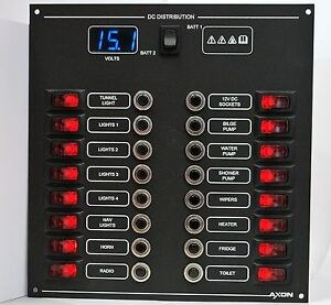 16-Way-Illuminated-Circuit-Breaker-Switch-Panel-with-Digital-Voltmeter-Blue