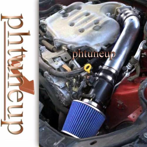 BLACK BLUE fit 2003-2006 INFINITI FX35 G35 3.5 3.5L V6 AIR INTAKE KIT SYSTEMS