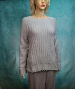 VINCE Womens Wool Cashmere Blend Long Sleeve Pullover Gray Sweater Small NWOT