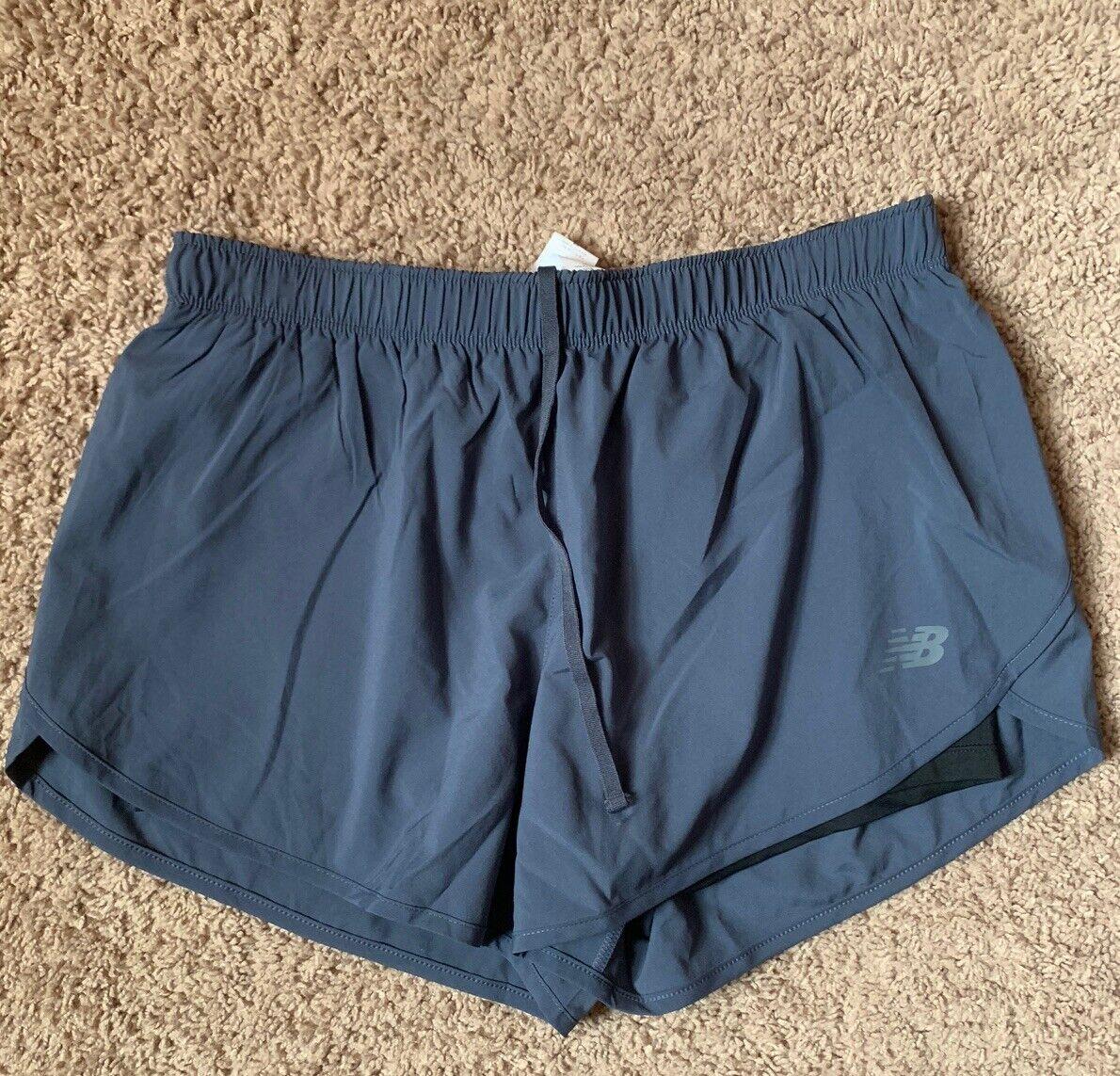 NEW BALANCE Gray Lined Active Wear Running Shorts Women's Size Medium