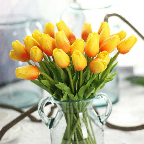 5Pcs Mini Tulipe Fleur Artificielle Mariée Mariage Bouquet Maison Floral Decor