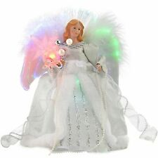 WeRChristmas 30 cm Fibre Optic Angel Decoration Christmas Tree Top Topper... NEW