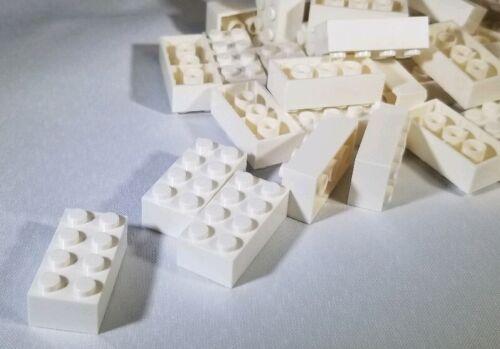 ID 3001 Lot of 100 New Lego 2x4 White Bricks