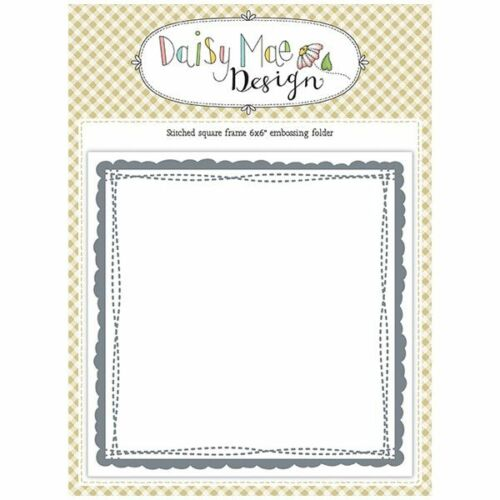 Daisy Mae Design 6in x 6in Embossing Folder Stitched Square Frame