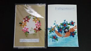 Handmade paper quilling greeting card for the congratulations image is loading handmade paper quilling greeting card for the congratulations m4hsunfo