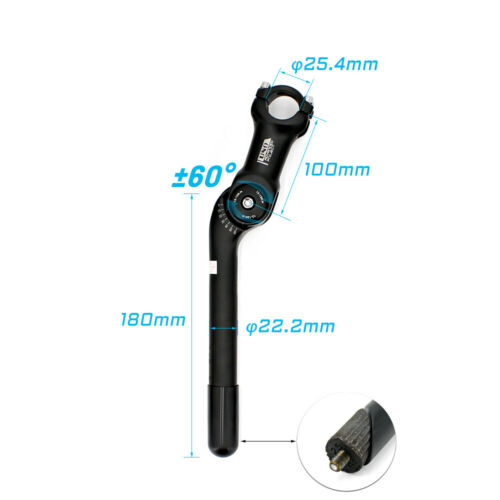 UNO Bike Quill Stem 25.4mm Bicycle Handlebar Stem With Quill Fork Stem Extension