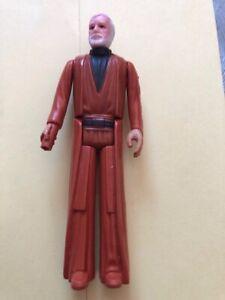 1977 Kenner Star Wars- Obi Wan Kenobi -vintage Figurine Hong Kong Gmfgi Vente D'éTé SpéCiale