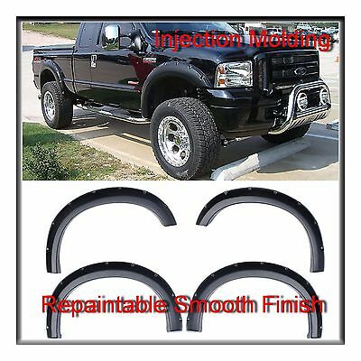 Premium Injection Molding Pocket Style Fender Flares for Ford F250 F350 99-2007