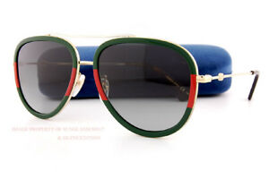 87f0d57e260 Brand New GUCCI Sunglasses GG 0062 S 003 Gold Red Green Gray For Men ...