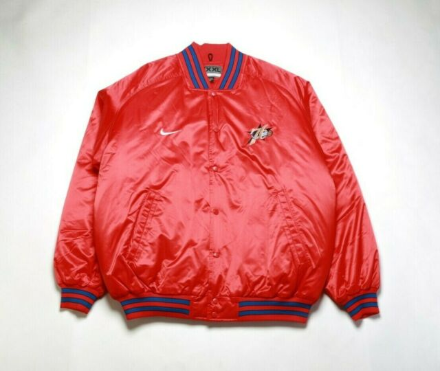 VINTAGE 2002 NIKE Men's NBA Franchise Jacket NKF005125SX4 PHILADELPHIA 76ERS