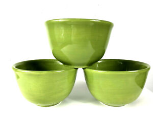 Pottery Barn Colorful Serve Bowls Set Lot 3 Green Soup Cereal PB Dishes