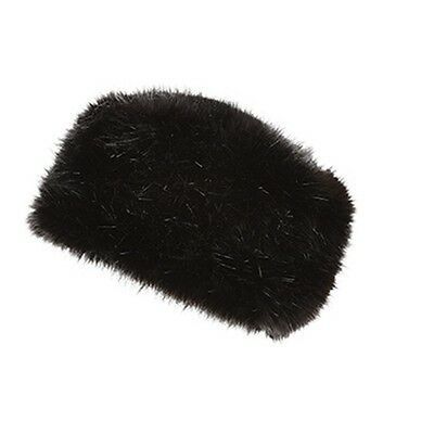 WOMENS LADIES RUSSIAN STYLE FAUX FUR COSSACK HAT BLACK WHITE NATURAL WINTER NEW