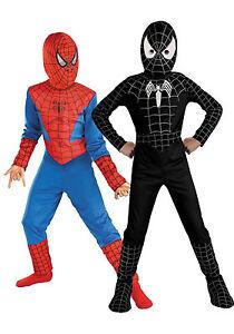 Kid Boy Fancy Dress Cosplay Costume Spiderman Black Venom Halloween Clothes US