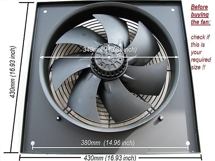 Industrial Extractor Fan 300mm 12 Inch 240v 2600 Rpm For Sale Online Ebay