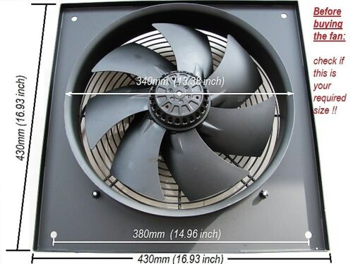 12 pouces Industrial Extractor Fan 300 mm 2600 tr//min 240 V