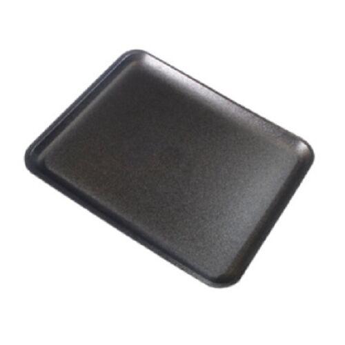 500//PK CKF 8SBK #8S Black Foam Meat Trays