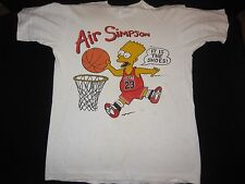 1990s Vintage Bart Shirt Air Simpson The Simpsons Jordan Nike Cartoon Small S