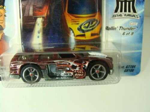 Hot Wheels Acceleracers Metal Maniacs Rollin Thunder Maroon 5 Spoke #6