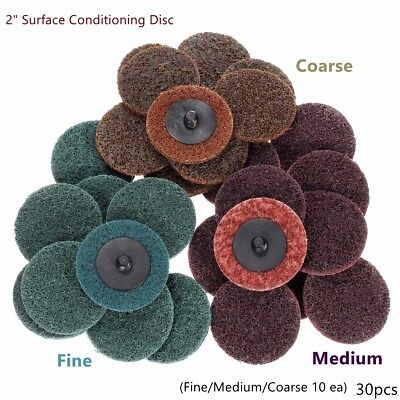 "20pc FINE 2/"" SURFACE PREP CONDITIONING SCOTHBRITE ROLOC SANDING DISCS GRINDING"