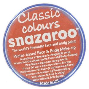 Image Is Loading Snazaroo Orange Face Paint Clic Colors Fancy Dress