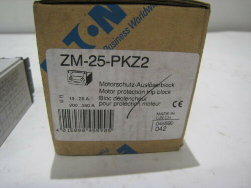NEW MOELLER EATON ZM-25-PKZ2 MOTOR PROTECTION TRIP BLOCK FREE SHIPPING