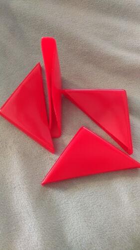 4 Corner cap vinyl rubber end caps protects glass sheet metal artwork  etc..QT