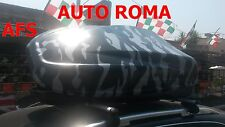 BOX AUTO PORTAPACCHI MIMETICO HELIOS 400+BARRE ALLUMINIO AUDI A4 AVANT ANNO 2006