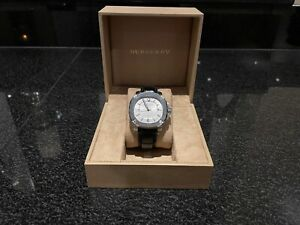 Mens-Black-Leather-Swiss-Burberry-BBY1206-The-Britain-Automatic-Date-Watch
