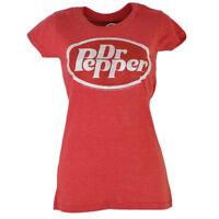Dr Pepper Beverage Tshirt Tee Red Short Sleeve Drink Soda Pop Juniors Girls