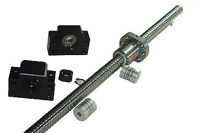 Ball screw SFU 1605  L450mm single  ballnet+BK BF/12+2pcs 6x8 couplers
