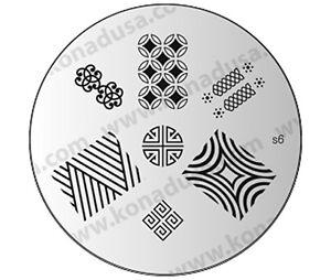 1-Konad-Stamping-Nail-Nails-Design-Art-Image-Plate-S6-USA-SELLER