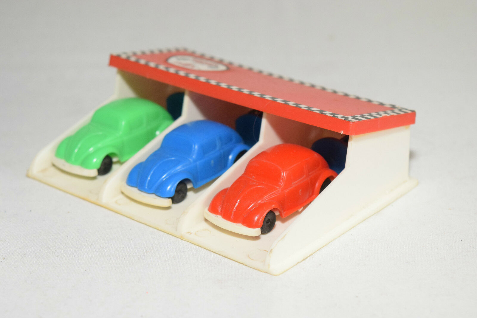 el estilo clásico SHAMBERS SPAIN PLASTIC PLASTIC PLASTIC VW VOLKSWAGEN BEETLE KAFER RACE SET NEAR MINT RARE SELTEN  saludable