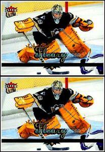 2x-ULTRA-FLEER-2005-MARC-ANDRE-FLEURY-NHL-PITTSBURGH-PENGUINS-GOALIE-159-LOT