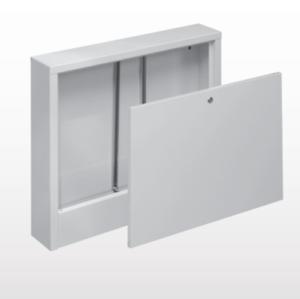 Aufputz-Verteilerschrank für Fußbodenheizung; Verteiler AP; flach; mit Schloss