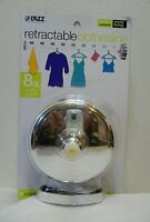 Retractable Clothesline 8 Ft Drying Space Quick Easy Set Up In Package