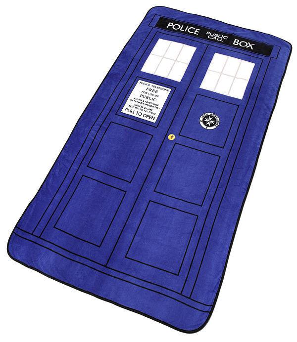 Doctor Who Tardis Coperta 127 x 226 cm Ufficiale Bbc Nuovo