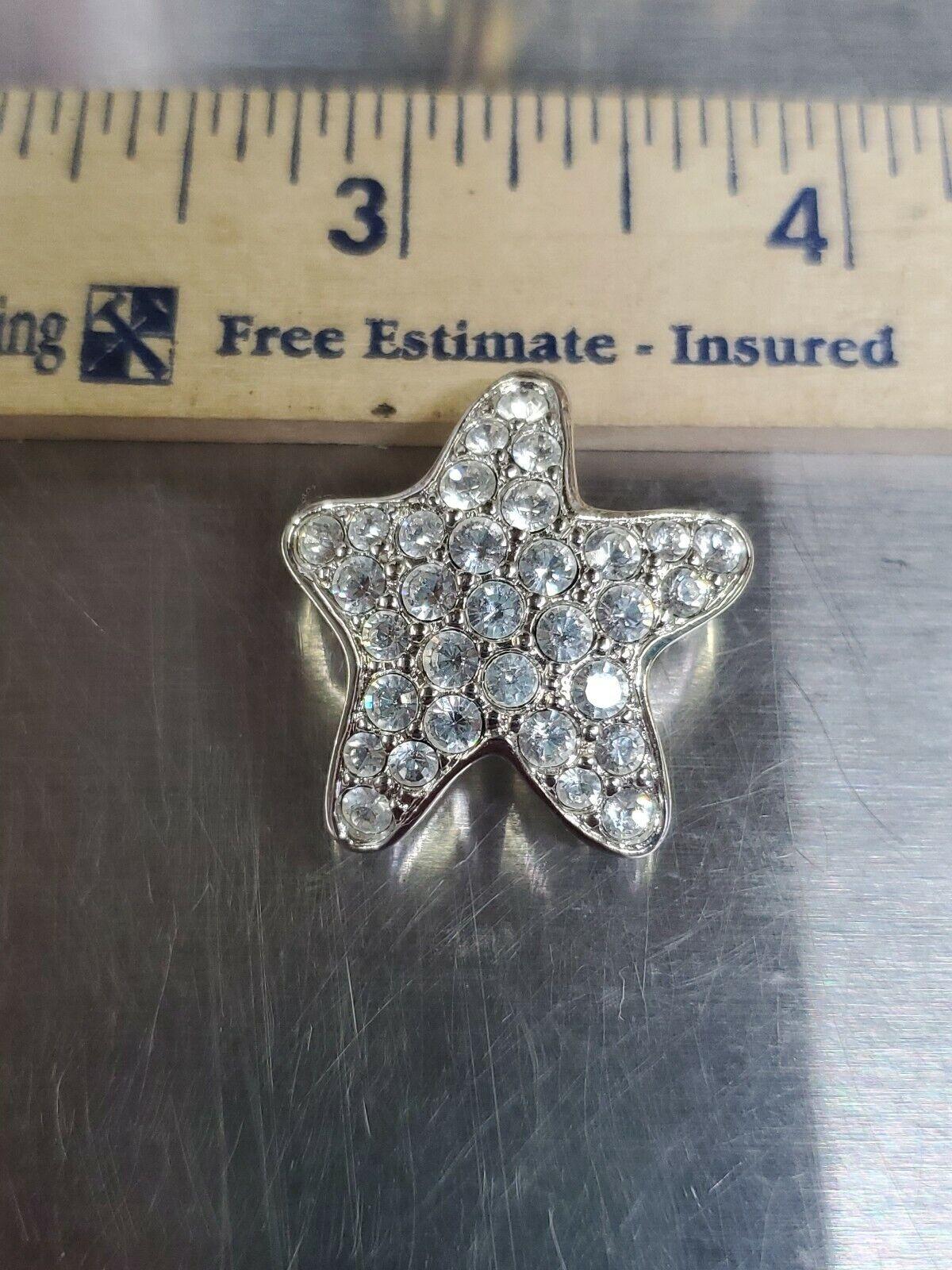 Swarovski crystal Brooch Silver Tone Star Super P… - image 6