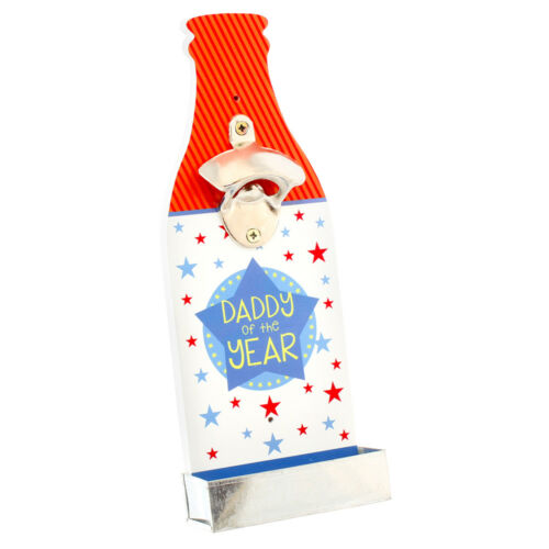 Retro Beer Bottle Opener With Cap Catcher No 1 Dad Best Dad or Greatest Grandad
