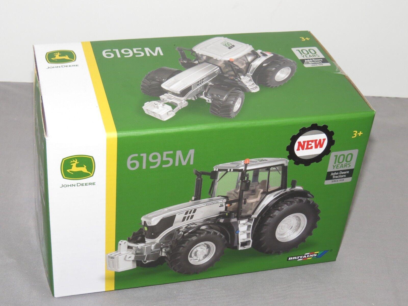 John Deere Ertl Britains 1/32 100th Cromo Plata Europea Edition 6195M Tractor