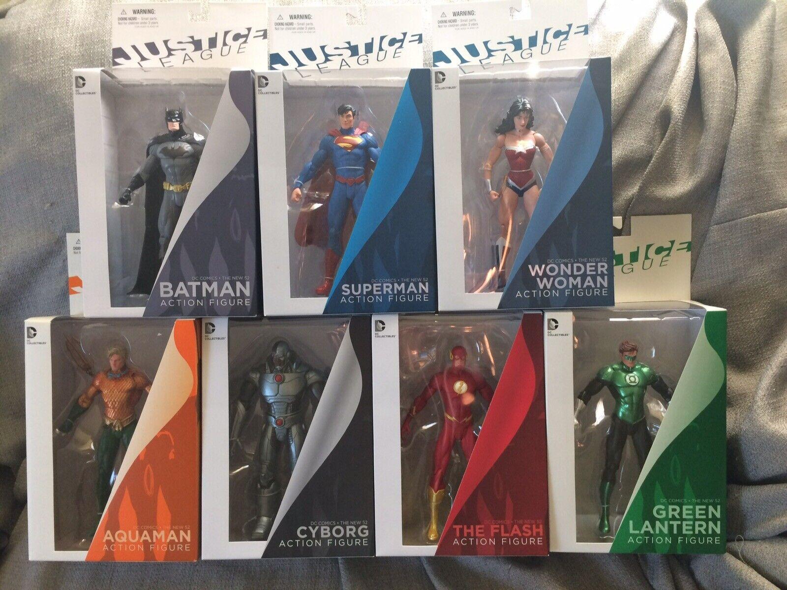 DC Coleccionables Nuevo 52 Liga De La Justicia Juego de 7 figuras versión de Jim Lee