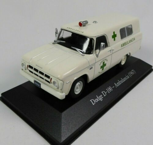 1967 1:43 SALVAT Diecast Miniature Modellauto SA07 Dodge D-100 Ambulance