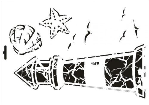 Wandschablone Maler T-shirt Schablone W-385 Vintage Leuchtturm ~ UMR Design