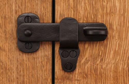 "4/"" Back Flip Sliding Barn Door Gate Latch Lock Solid Cast Brass Rust Free Metal"