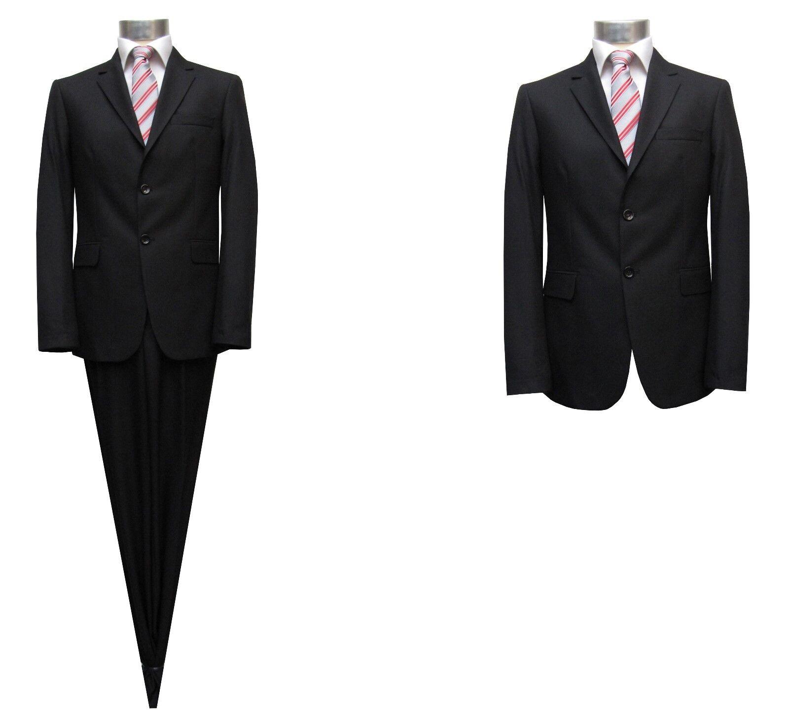 Slim-fit Anzug Muga Gr.48 black