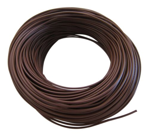 0,44€//m KFZ LKW Kabel Litze Leitung Flexible FLRy 1,0mm² 5m Braun M in Germany