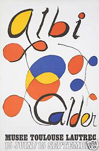 Original-Vintage-Poster-Alexander-Calder-Museum-Toulouse-Lautrec-Exhibition-Mod